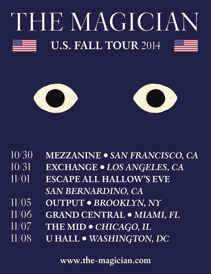 The Magician U.S. Fall Tour 2014 - poster