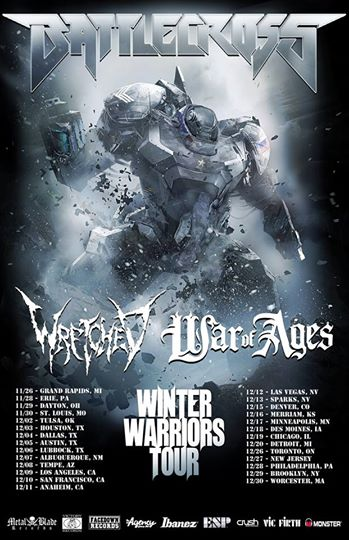 Battlecross Winter Warriors Tour 2014 - poster