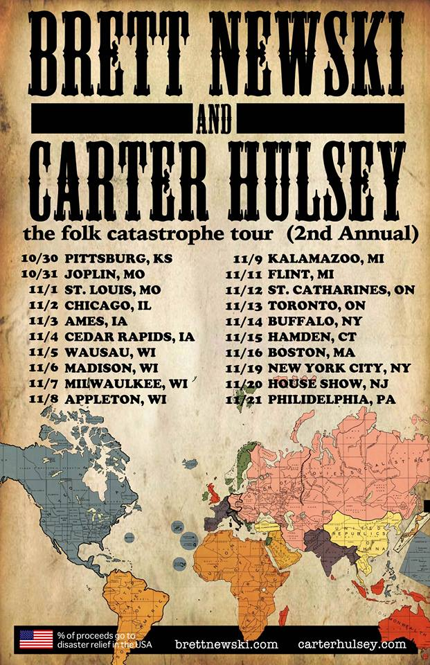 Carter Hulsey - The Folk Catastrophe Tour - poster