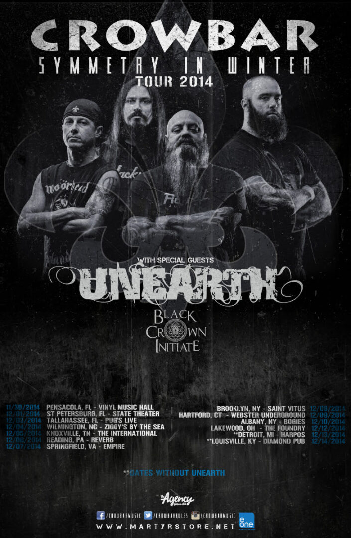 Crowbar Symmetry in Winter Tour 2014 - poster