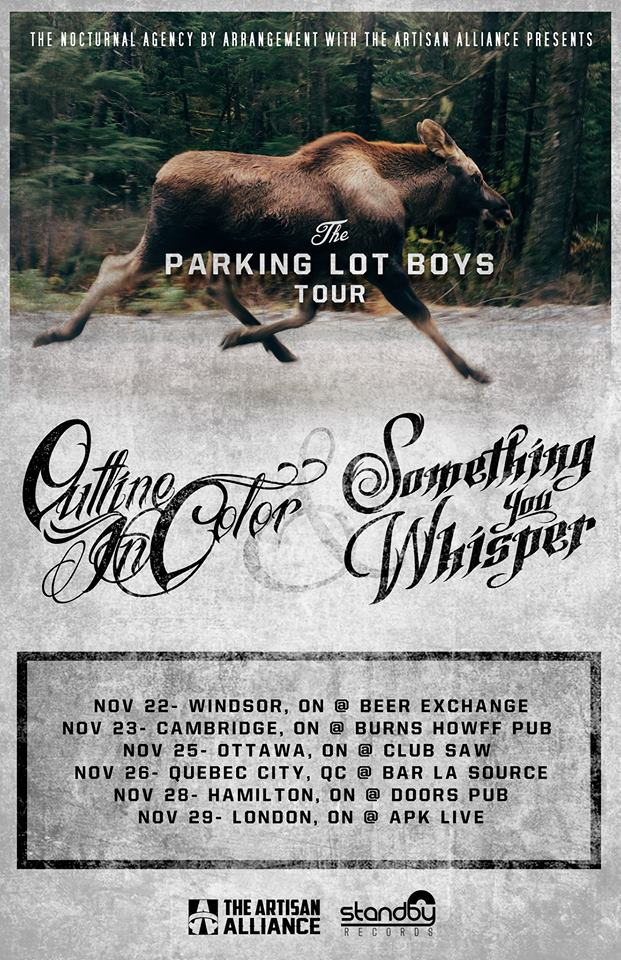 Outline In Color The Parking Lot Boys Tour - poster