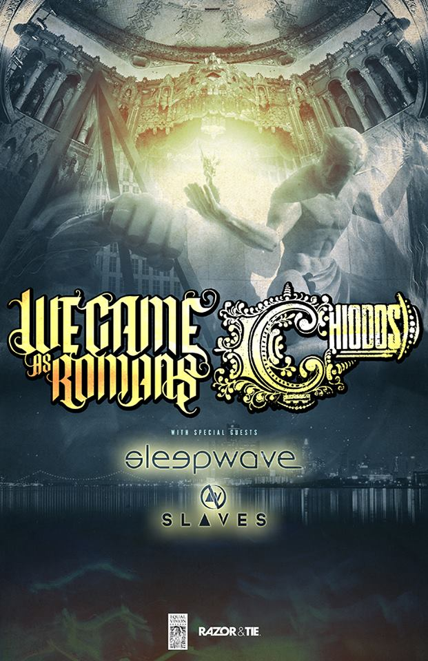We Came As Romans Chiodos U.S. December 2014 Tour - poster