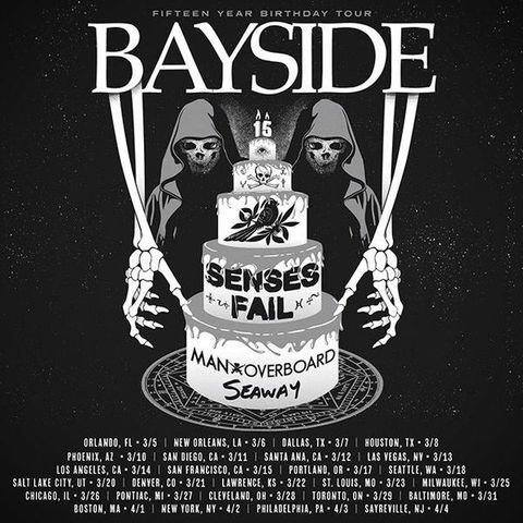 Bayside - 15 Year Birthday Tour - poster