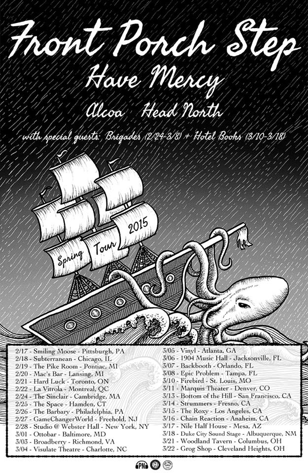 Front Porch Step - Spring North American Tour 2015 - poster