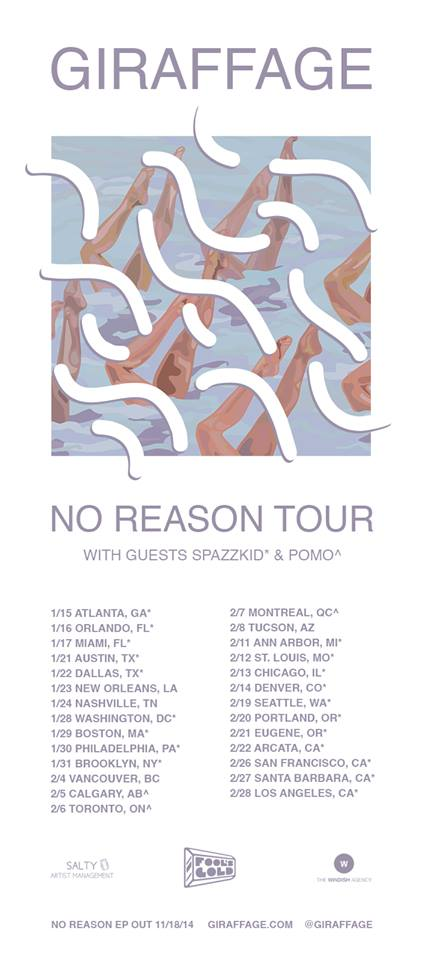 Giraffage - No Reason Tour 2015 - poster