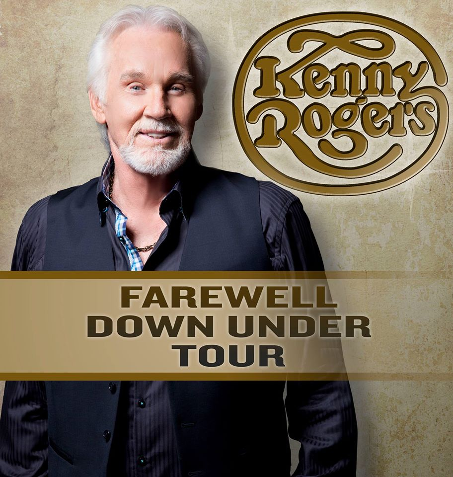 Kenny Rogers - Farewell Down Under Tour - poster