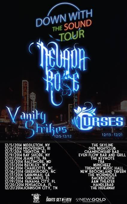 Nevada Rose - Down With The Sound Tour - poster