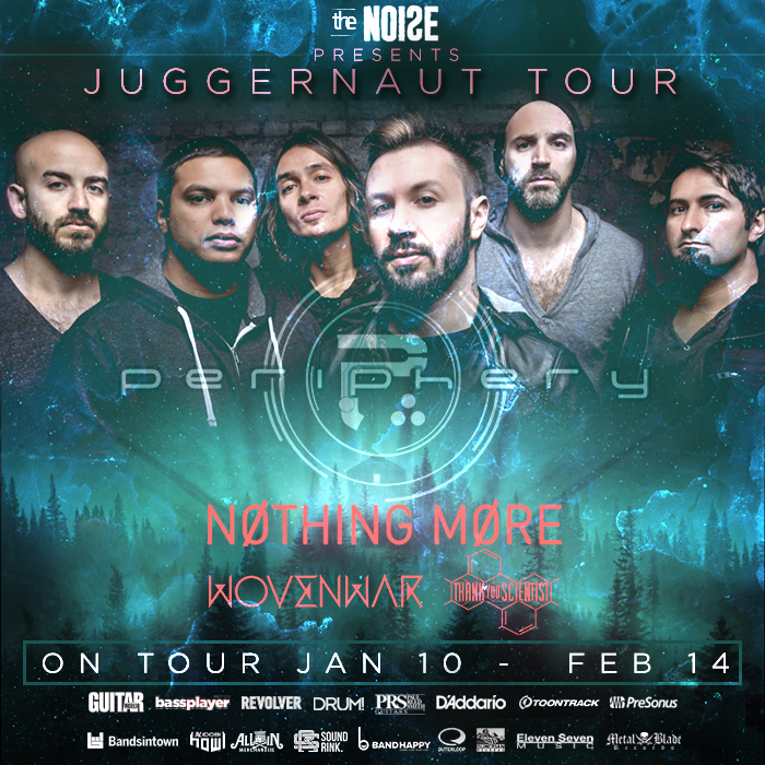 "Periphery's ""Juggernaut Tour"" with Nothing More – Ticket Giveaway"