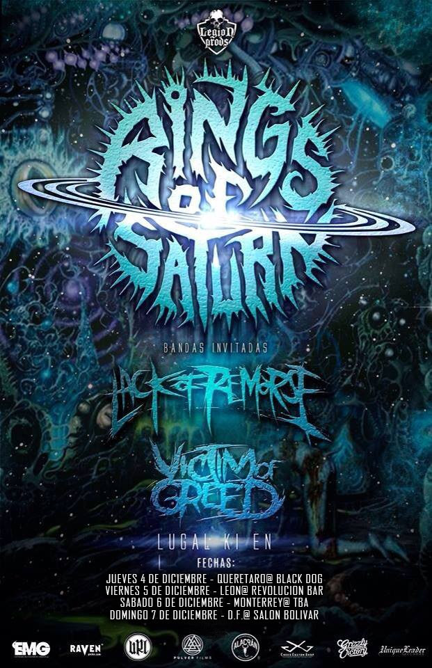 Rings of Saturn - Mexico Tour 2014 - poster