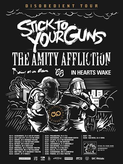 Stick To Your Guns - Disobedient Tour 2015 - poster