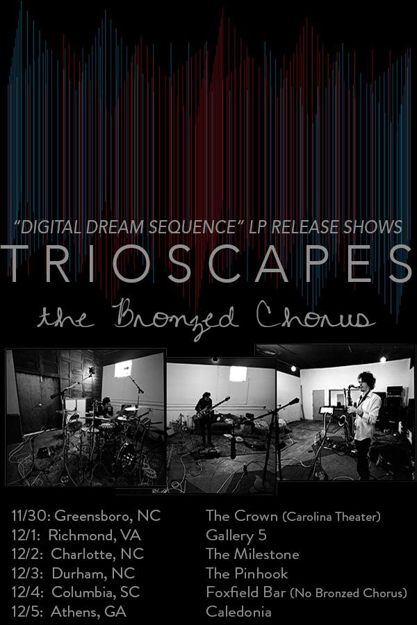 Trioscapes - Digital Dream Sequence Release Tour - poster