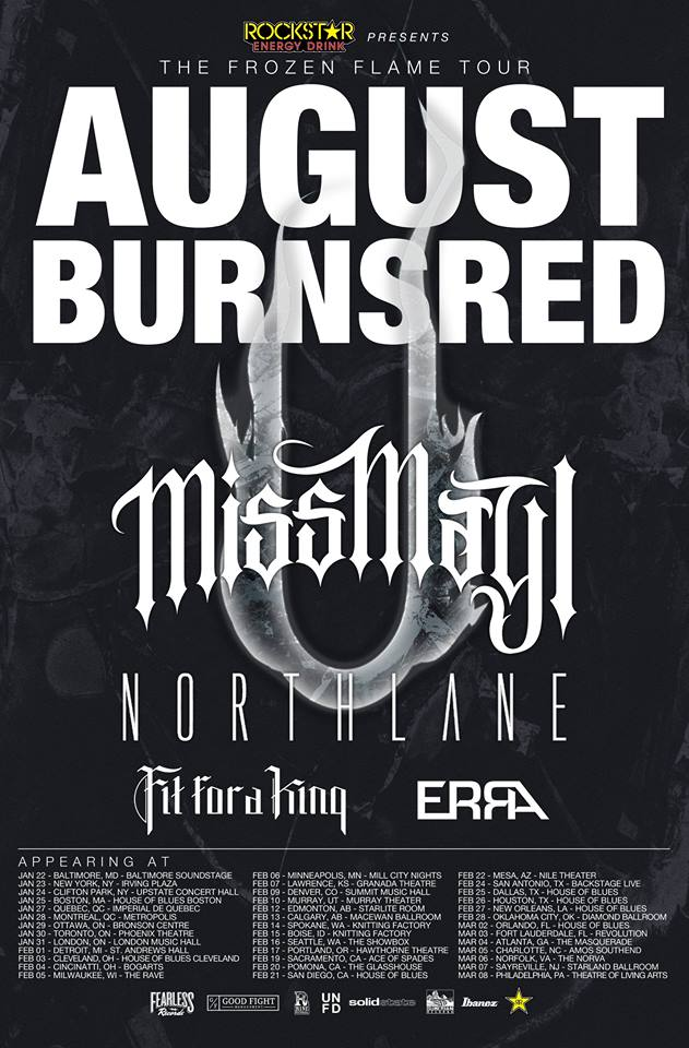 """August Burns Red """"The Frozen Flame Tour"""" – GALLERY"""
