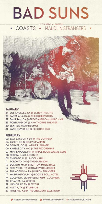 Bad Suns - Winter 2015 North American Tour - poster