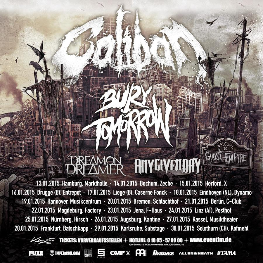 Caliban - European 2015 Winter Tour - poster