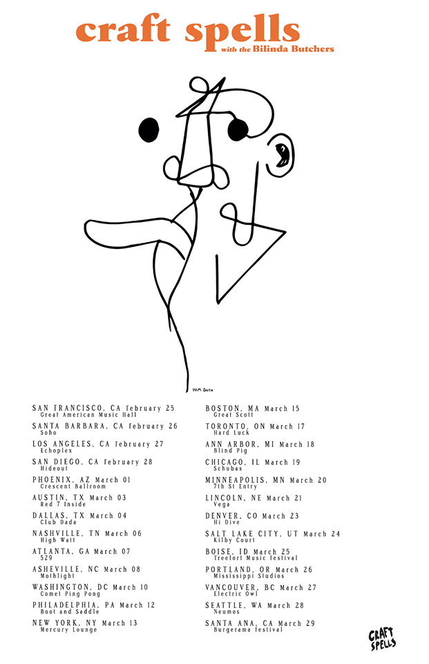Craft Spells - North American 2015 Tour - poster