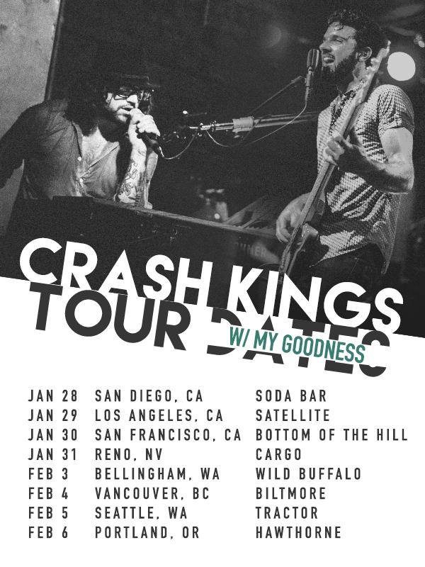 Crash Kings - Tour With My Goodness - poster