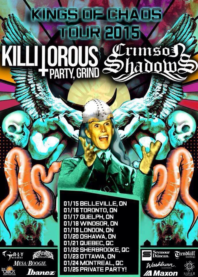 Crimson Shadows - Kings Of Chaos Tour - poster