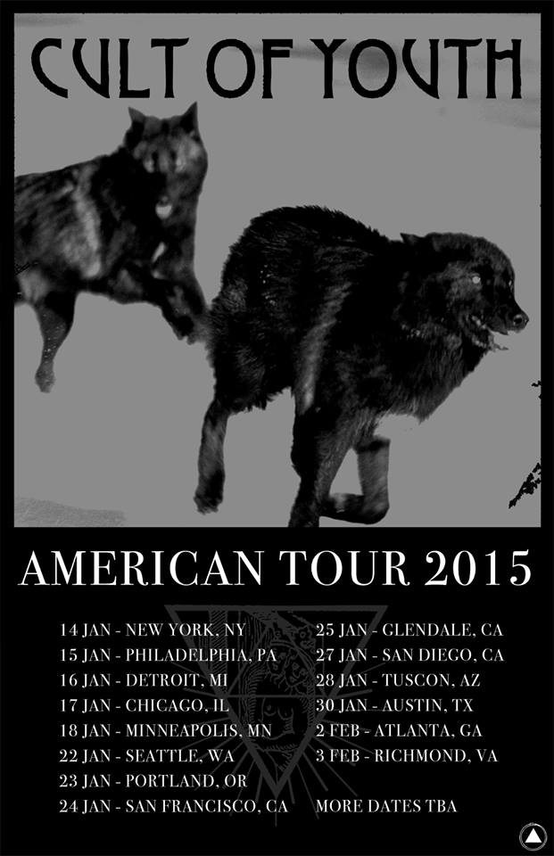 Cult of Youth - American Tour 2015 - poster