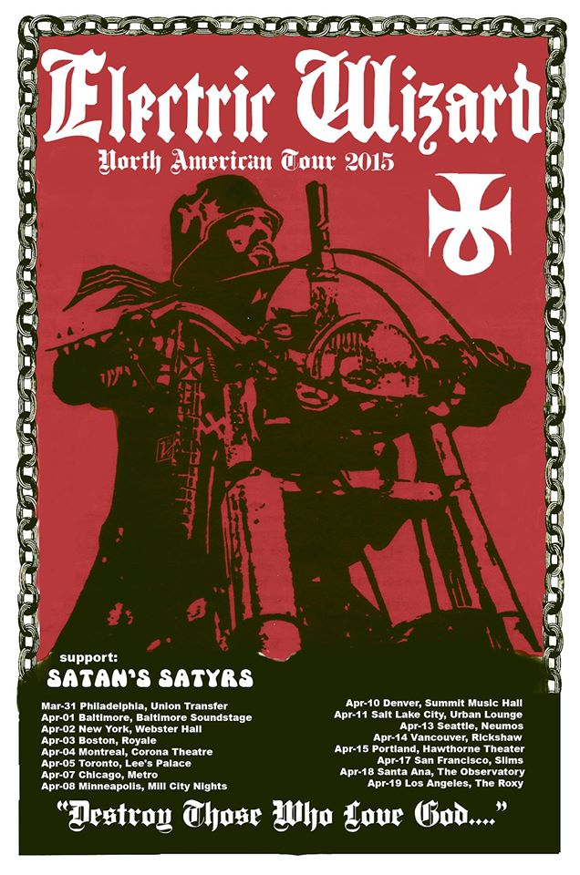 Electric Wizard - North American Tour 2015 - poster