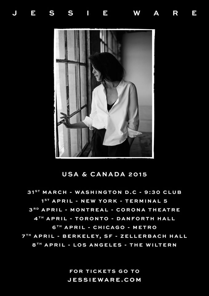 Jessie Ware - Spring 2015 North American Tour - poster