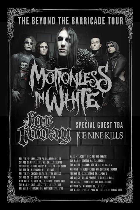 Motionless-In-White-Beyond-The-Barricade-Tour-poster