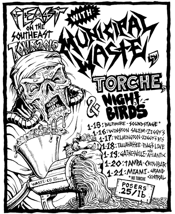 Municipal-Waste-Feast-On-The-Southeast-Tour-poster