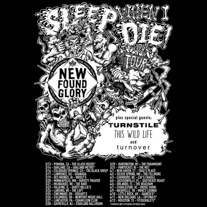 New-Found-Glory-Sleep-When-I-Die-Tour-poster