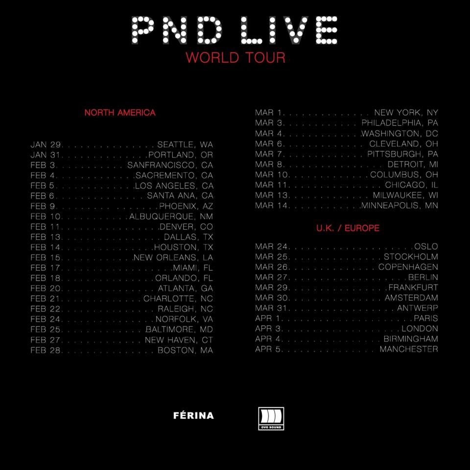 PartyNextDoor - PND Live World Tour - poster