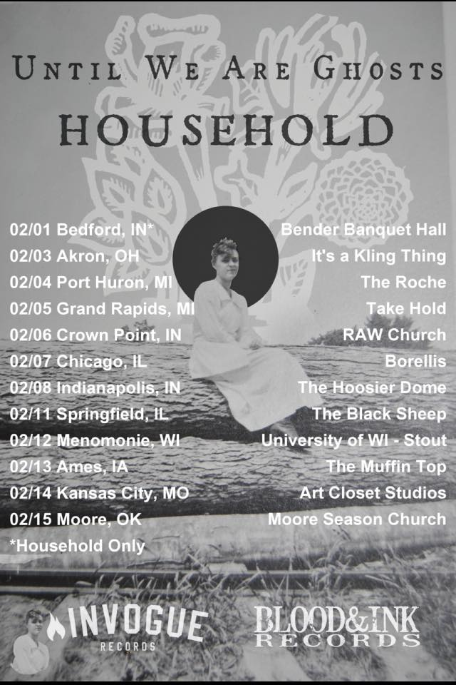 Until We Are Ghosts - U.S. Tour With Household - poster