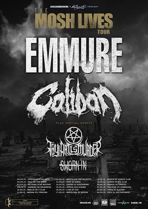 Emmure - The Mosh Lives Tour Europe - poster
