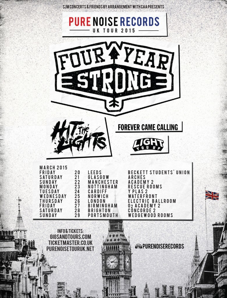 Four Year Strong - Pure Noise Records UK Tour - poster
