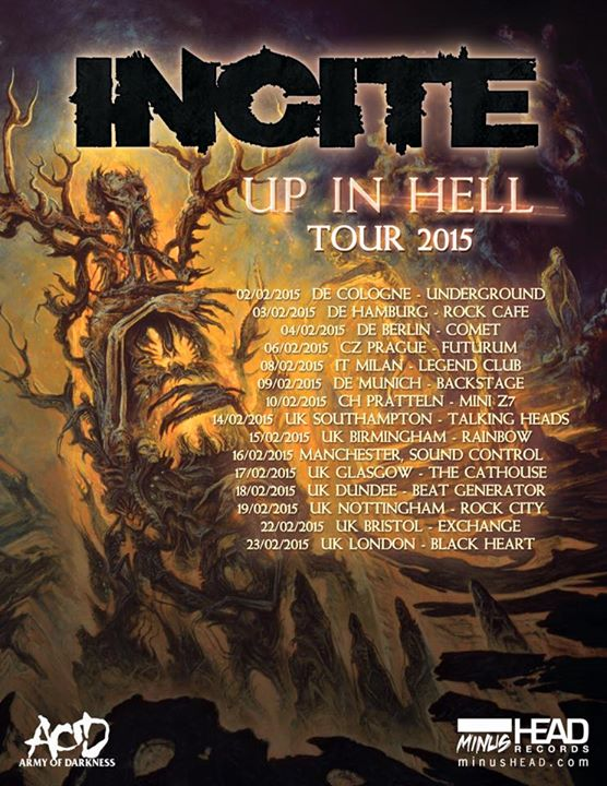 Incite - Up In Hell World Tour - Poster