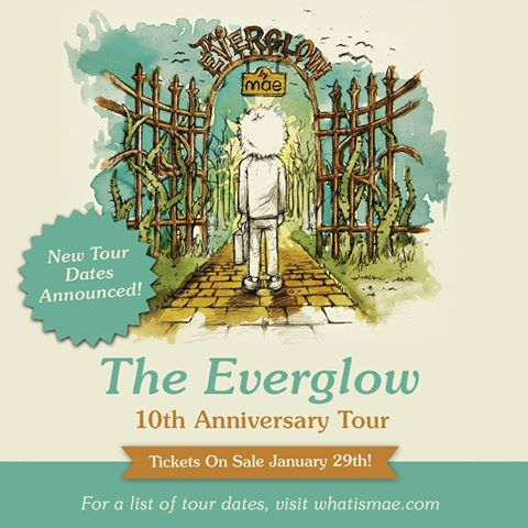 Mae - The Everglow tour - poster