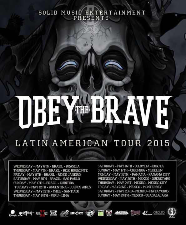 Obey The Brave - Latin American Tour 2015 - poster