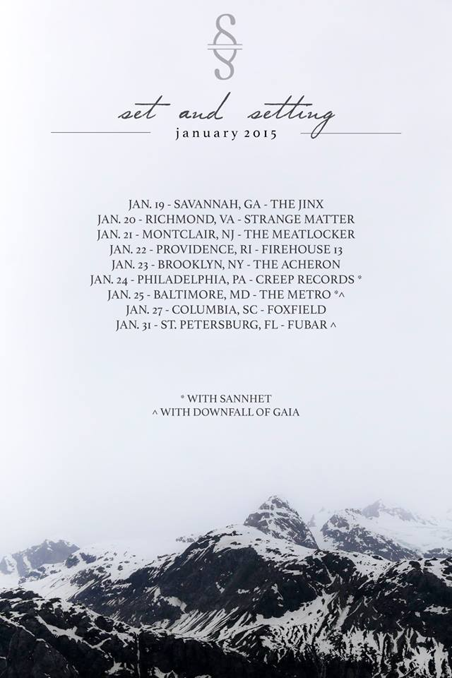 Set and Setting-East Coast Tour 2014-Poster