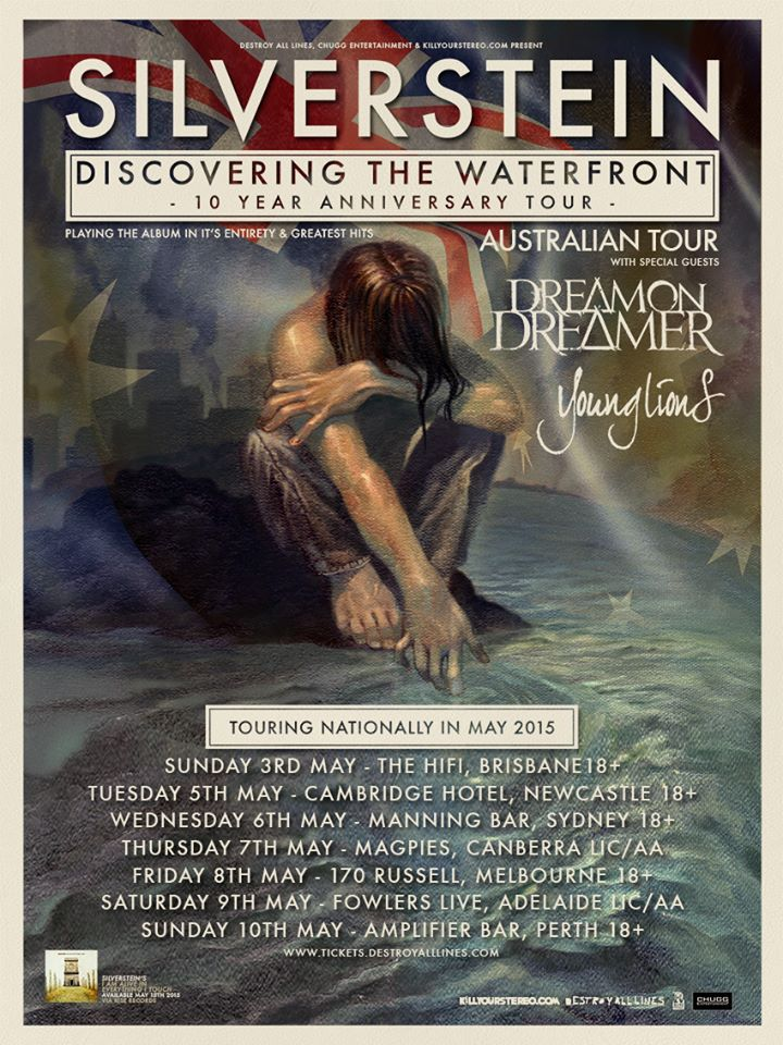 Silverstein - Discovering  The Waterfront 10 Year Anniversary Tour Australia - poster