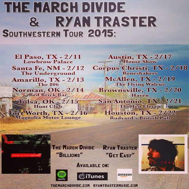 The March Divide - Southwestern tour - poster