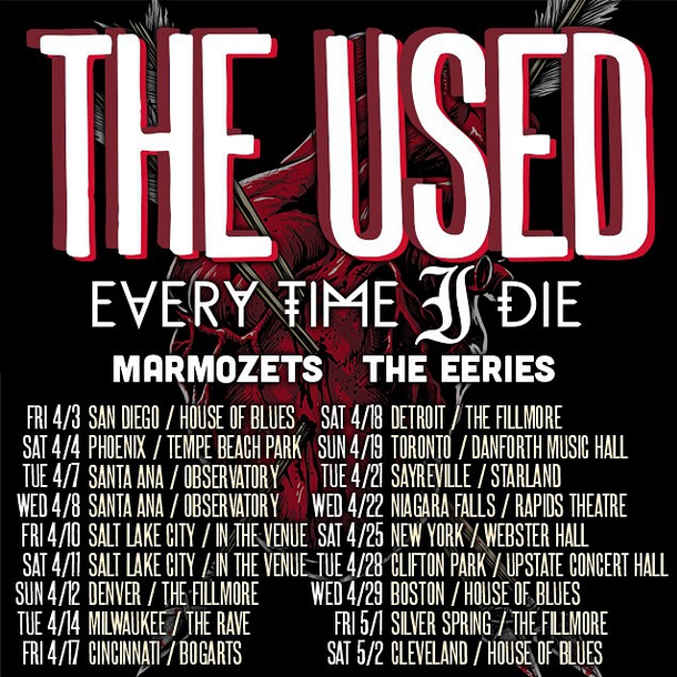 The Used's North American Tour With Every Time I Die – Ticket Giveaway