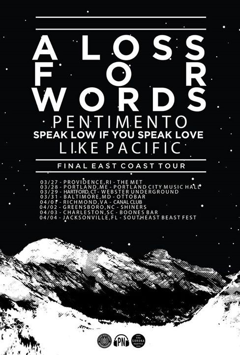 A Loss For Words - U.S. Tour - 2015 - Poster