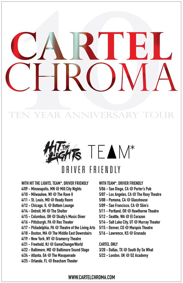 Cartel - Chroma 10 Year Anniversary Tour - poster