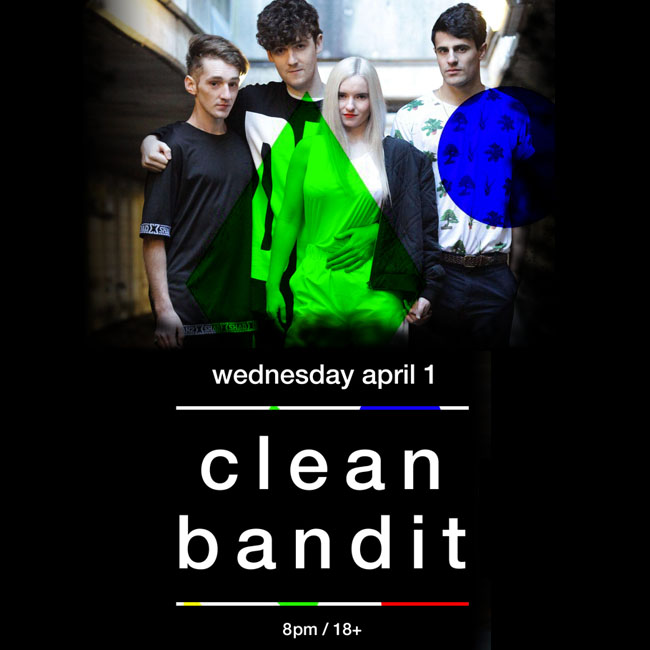 """Clean Bandit's """"New Eyes Tour"""" – Chicago Ticket Giveaway"""