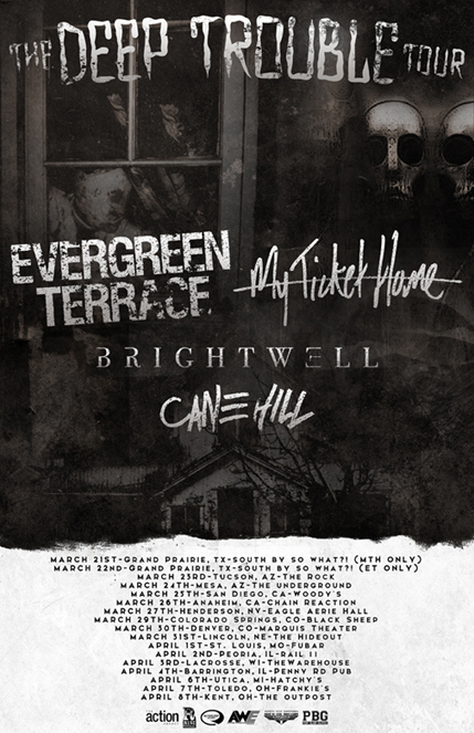 Evergreen Terrace - The Deep Trouble Tour With My Ticket Home - poster