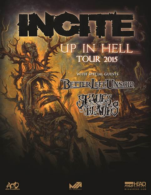 INCITE - Up In Hell Tour - 2015 - Poster