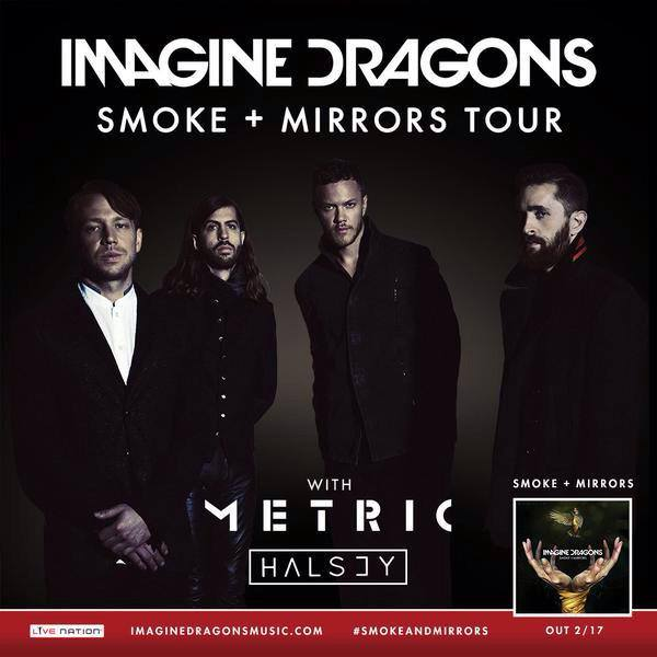 Imagine Dragons - Smoke & Mirrors North American Tour - poster