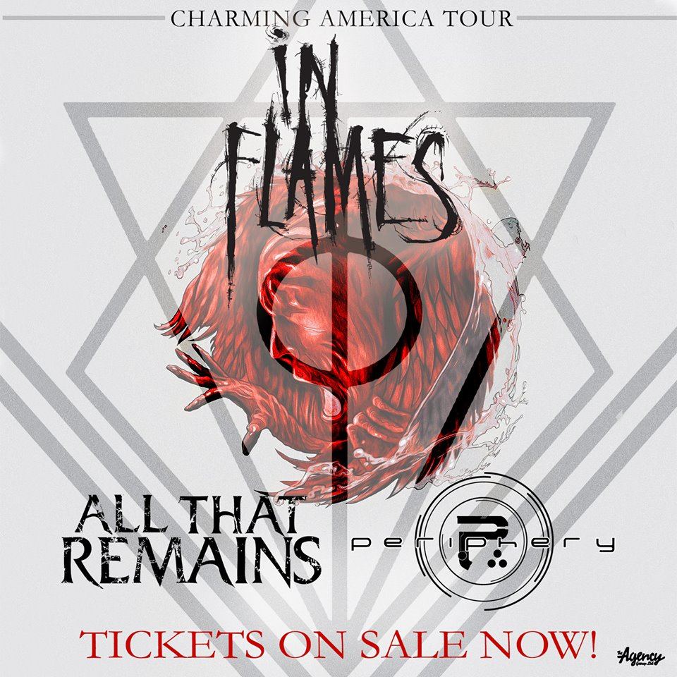 In Flames - Charming American tour - poster