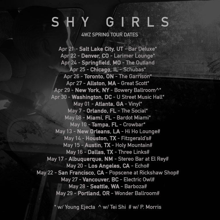 Shy Girls - North American 2015 Tour - poster