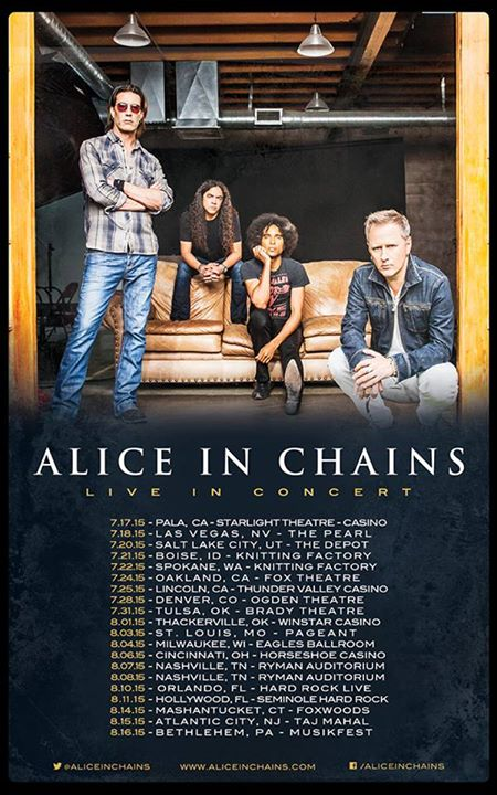 Alice In Chains - Summer U.S. Tour 2015 - poster