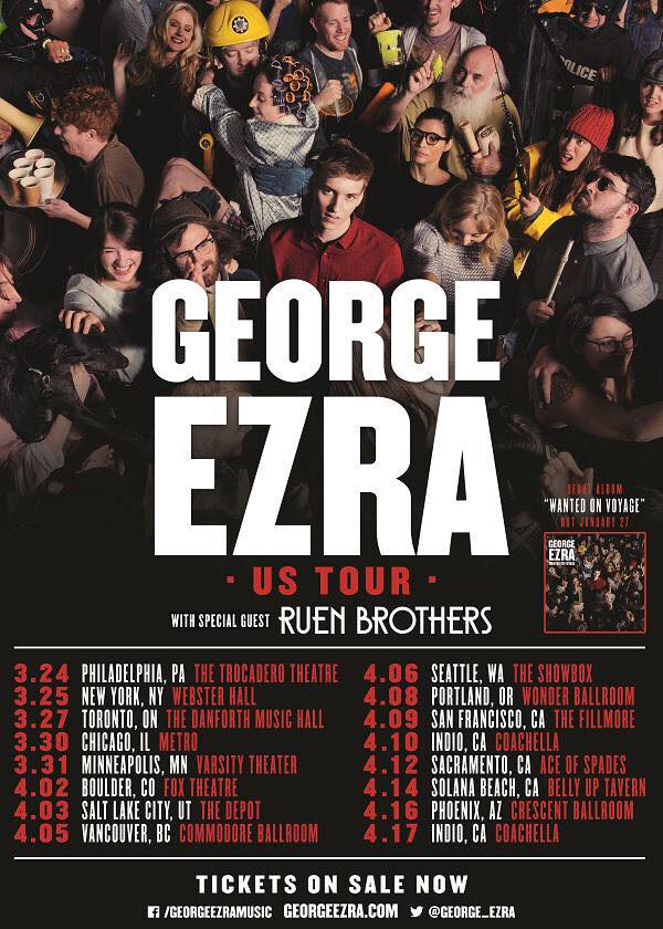 George Ezra - North American Tour 2015 - poster