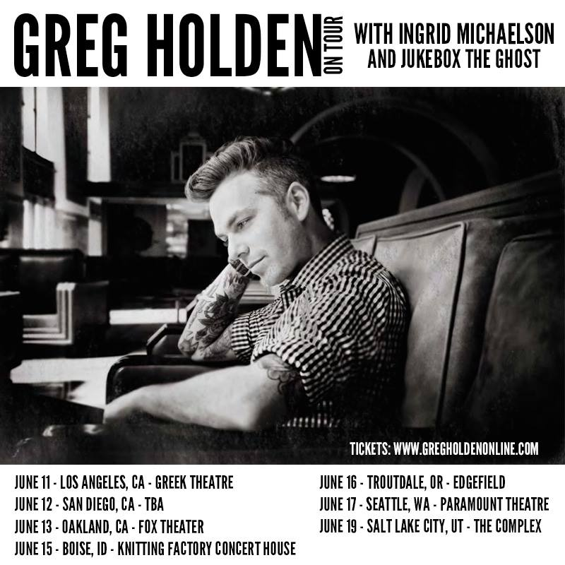 Greg Holden - 2015 Tour Poster