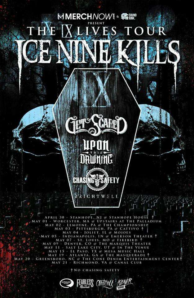 Ice Nine Kills - The IX Lives Tour - Poster - 2015